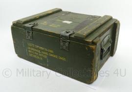 KL Landmacht houten munitiekist - hand granade - afmeting 53 x 38 x 29 - origineel