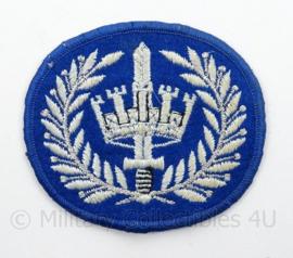 Korps Rijkspolitie arm embleem - rang Brigadier - afmeting 7 x 6 cm - origineel