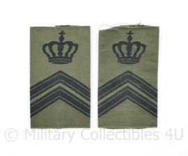 Defensie GVT epauletten paar Sergeant Majoor Instructeur  - 7,5 x 4,5 cm - origineel