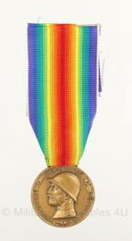 Italiaanse 1915-1918 herinneringsmedaille coniata nel bronzo nemico - 10,5 x 3,5 cm - origineel