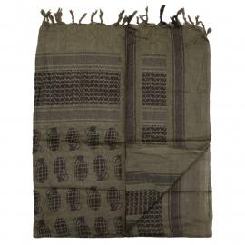 Shemagh PLO sjaal- Groen met Handgranaten