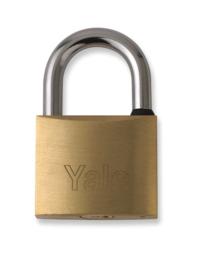 Leger zwaar hangslot YALE met 2 sleutels - nieuw in de verpakking - 6,3 x 4 cm - origineel