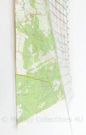 Defensie topografische kaart oefenterrein Hoogerheide - 31 x 22 cm -  origineel