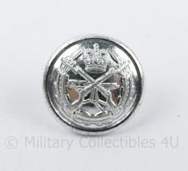 Knoop 12 mm Britse leger met gekruiste geweren - zilverkleurig  - per stuk -  origineel