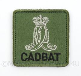KL Landmacht borst embleem MA Militaire Academie CADBAT Cadettenbataljon - groen - met klittenband - afmeting 5 x 5 cm - origineel