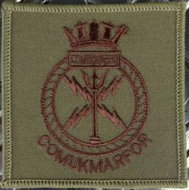 COMUKMARFOR Royal Marines Commander United Kingdom Maritime Forces Formations Badge  - 7 x 7 cm. - origineel