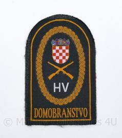 Kroatisch leger embleem HV Domobranstvo - 7,5 x 12 cm - origineel