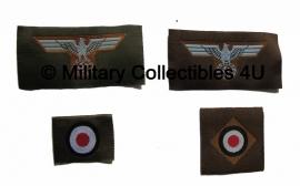 Tropenmütze M40  insigne set - 2 types
