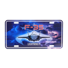 Nummerplaat F-35 Lightning II