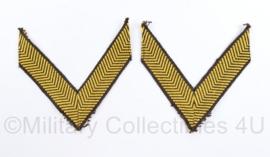 Defensie jaren 70 mouw rangen paar - Korporaal - 8 x 8 cm - origineel