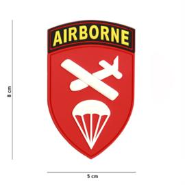 Embleem 3D PVC - met klittenband - Airborne Command - 8 x 5 cm.