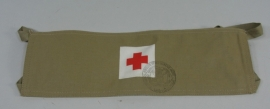 Armband Rode Kruis Geneeskundige Dienst - Nederlands leger - zeldzaam model! - origineel