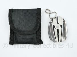Defensie goodie - opvouwbare multitool met tasje - 5,5 x 4 cm -  origineel