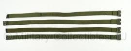 Bepakking riemen - set van 4 stuks - groen - origineel Nederlands leger