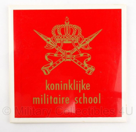 KMS Koninklijke Militaire School wandbord porselein - 15 x 15,5 cm - origineel