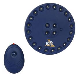 Camping lamp met afstandsbediening 24-LEDS met ophanghaak - blauw