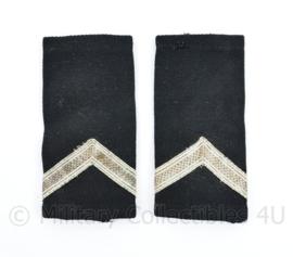 Kmar Marechaussee vorig model epauletten zwart wollig  - 10,5 x 5 cm - origineel