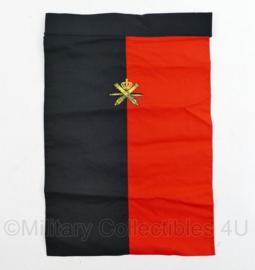 Nederlands leger halsdoek Opleidingscentrum Luchtdoelartillerie  - rood/zwart -  origineel