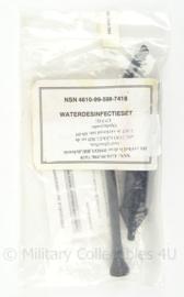Defensie tropen Waterdesinfectieset Individueel - nieuw in de verpakking - origineel