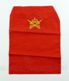 KL Nederlandse leger halssjaal - KMS Militaire academie - rood - 31,5 x 23 x 0,1 cm - origineel