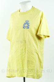 Geel t-shirt Nederlandse Marine Coast Guard, regio Aruba Curaçao Maat L - Origineel