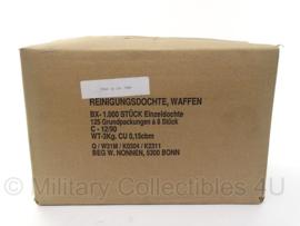 Wapen reinigingsmateriaal katoen voor 9mm - doos met 125 bundels - voor geweer of MG