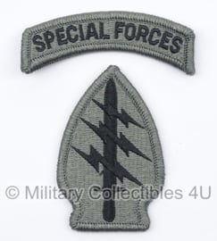 US Army Foliage patch met tab - Special Forces - met klittenband - voor ACU camo uniform - origineel