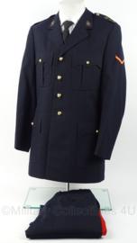 Korps Mariniers Barathea uniform met kraagspiegels, broek en stropdas - maat jas 49 en broek 46 - origineel