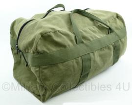 Korps Mariniers parabag tas parachute tas groen canvas - gebruikt - 58 x 32 x 25 cm - origineel