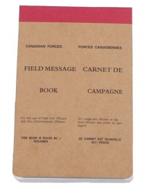 Field message book Canadian Forces / Leger notitieblok 11x17 cm