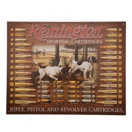 metalen plaat groot  Remington sporting Cartridges