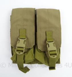 KL Nederlandse leger en US Army M-4 Double mag pouch 2 mags per pouch - Eagle Industries - ongebruikt - 17 x 20 x 1,5 cm - origineel