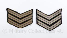 Nederlandse  politie jaren 50 insigne paar  - lichte mismatch - 9 x 8,5 cm - origineel