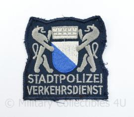 Zwitsers embleem Stadpolizei Verkehrdienst - 7,5 x 7,5 cm - origineel