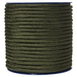 Groen TOUW op rol. 7mm  diameter en 60 meter lang