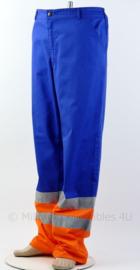 Nieuwe werkbroek oranje/blauw met reflectie - merk HAVEP 3M- maat 58 - origineel