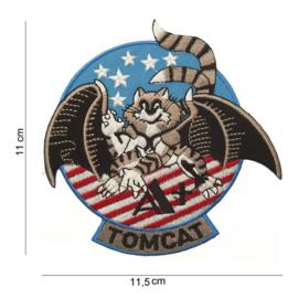 Embleem stof Tomcat 11,5 x 11 cm.
