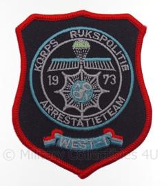Embleem Arrestatieteam Korps Rijkspolitie - 8 x 10 cm - Top ! replica