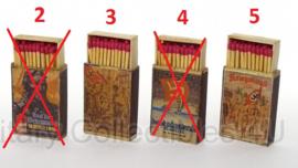 Doosje lucifers van hout- met replica wo2 Duitse afbeelding