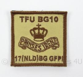 KL Landmacht borst embleem Prinses Irene Brigade TFU BG10 17 NLD BG GFPI - met klittenband - afmeting 5 x 5 cm - origineel