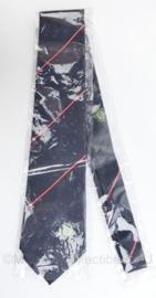 Stropdas Oostenrijkse Zoll - donkergrijs met rode strepen - nieuw in de verpakking - origineel