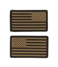 Uniform landsvlag USA 3d PVC DESERT CAMO met klittenband - 2 stuks - 8,8 x 5 cm.