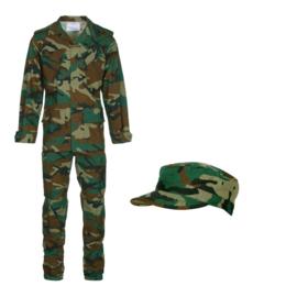 BDU Ripstop Woodland camo set jas, broek en pet - meerdere maten - nieuw gemaakt