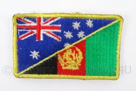 Australie/Afghanistan embleem met klittenband - afmeting 8 x 5 cm - origineel