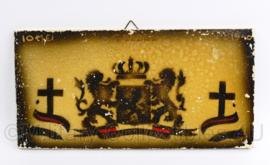 Mosa herinneringsbord 10 mei 1940 Grebbenberg - 20,5 x 10 cm - origineel