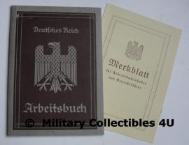 Arbeitsbuch 2 september 1936 Ilse Hamann +Merkblatt