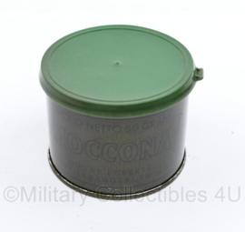 Nederlands leger jaren 50 rantsoen blik nog gevuld - instant koffie 50 gram 5 rantsoenen Douwe Egberts -