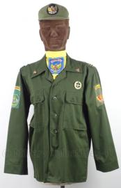 Uniform set Indonesische leger SUAD, jasje, halsdoek en pet - maat Small - origineel