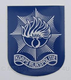 Korps Rijkspolitie sticker - origineel