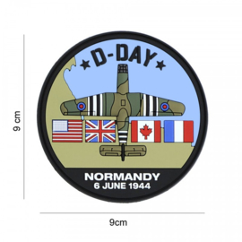 D-Day Horsa embleem 3D PVC - met klittenband - 9 cm diameter